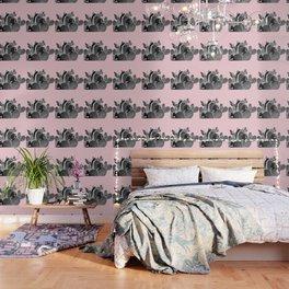 Bunny Ears Cactus on Pastel Pink #cactuslove #tropicalart Wallpaper