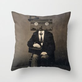 Faces of the Past: VHS Throw Pillow