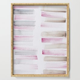 25  | 181101 Watercolour Palette Abstract Art | Lines | Stripes | Serving Tray