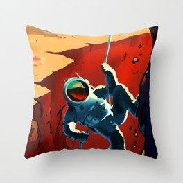 NASA Recruitment Poster Explorers Wanted Throw Pillow