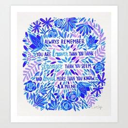 Always Remember – Indigo Palette Art Print