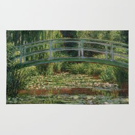 """Claude Monet """"The Japanese Footbridge and the Water Lily Pool, Giverny"""" Rug"""