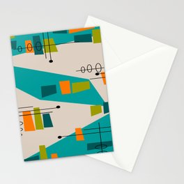 Mid-Century Modern Abstract Stationery Cards