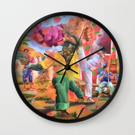 Origins of Capoeira Wall Clock