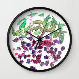 Summer Berries Wall Clock