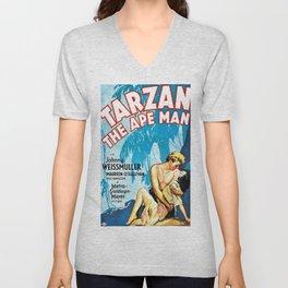 Tarzan The Ape Man Movie Poster Unisex V-Neck