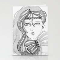 charmaine olivia Stationery Cards featuring Olivia by Priscila Floriano