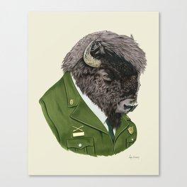 Bison art print by Ryan Berkley Canvas Print