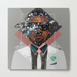 Hip Hop KanyeWest Compilation Minimal Abstract Metal Print