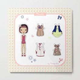 Marta - Paper Doll Metal Print