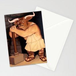 Manny the Minotaur of Crete Stationery Cards