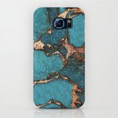 AQUA & GOLD GEMSTONE Slim Case Galaxy S7