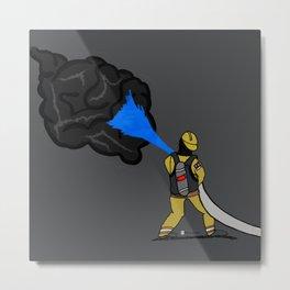 The Black Smoke Metal Print