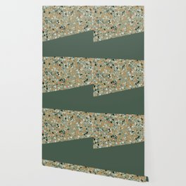 Terrazzo Texture Military Green #4 Wallpaper