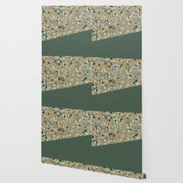 Terrazzo Texture Military Green #4 Wallpaper