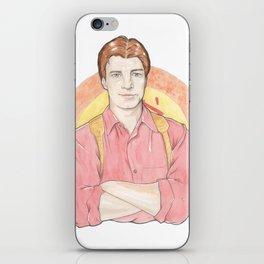 Malcolm 'Mal' Reynolds of Firefly Watercolor Portrait Illustration iPhone Skin