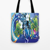 aloha Tote Bags featuring Aloha! by Robin Curtiss