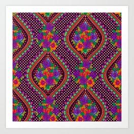 Ivy Purple Art Print