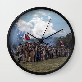 Southern Soldiers Wall Clock