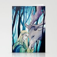 thranduil Stationery Cards featuring Thranduil by quelm