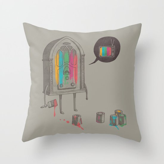 Identity Crisis Throw Pillow