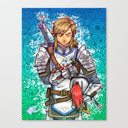 Her Appointed Knight Canvas Print