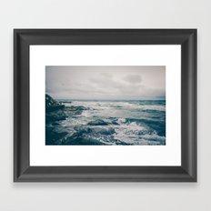 Stormy Ocean Framed Art Print
