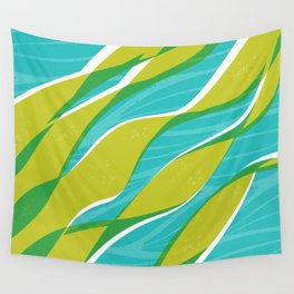 Ocean kelp in turquoise and green Wall Tapestry