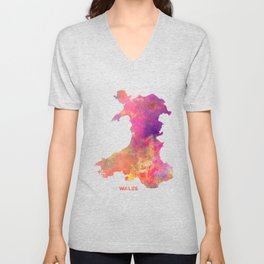 Wales map #wales #map Unisex V-Neck