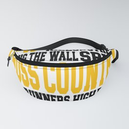 Cross Country Word Art Fanny Pack