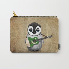 Baby Penguin Playing Pakistani Flag Acoustic Guitar Carry-All Pouch