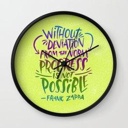 Frank Zappa on Progress Wall Clock