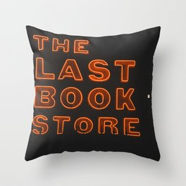 The Last Book Store Throw Pillow