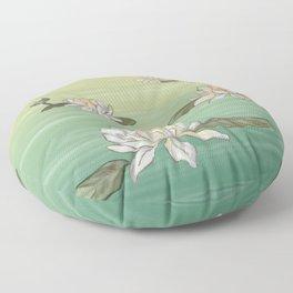 Drifting Water Lilies Floor Pillow