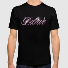 Simply Believe MEDIUM Black Mens Fitted Tee