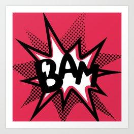 BAM! Art Print