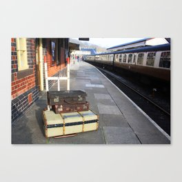 Cases At The Old Railway Station Canvas Print