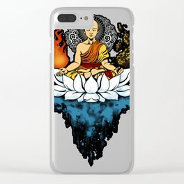 Aang Enlightment Clear iPhone Case