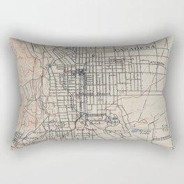 Vintage Map of Pasadena California (1894) Rectangular Pillow