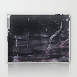 Purple and black abstract painting on metal Laptop & iPad Skin