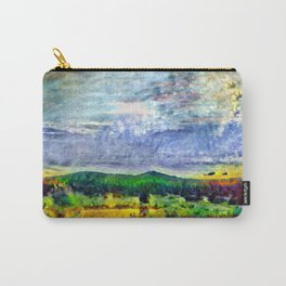 From Sunriver: Mt. Bachelor (Salt Watercolor) Carry-All Pouch