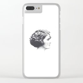 A portrait of Zelda Fitzgerald Clear iPhone Case