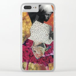 fish-bug-girl Clear iPhone Case