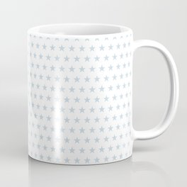 Dove gray stars on white pattern Coffee Mug