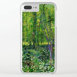 Vincent Van Gogh Trees and Undergrowth 1887 Clear iPhone Case