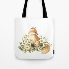 Springtime Fox Tote Bag