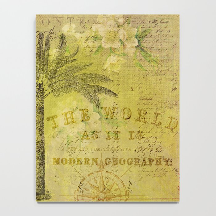 Vintage Journey palmtree typography travel collage Notebook