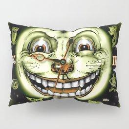 Black Cat 13 Halloween Clock Pillow Sham
