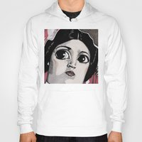 leia Hoodies featuring Leia by Drawn by Nina