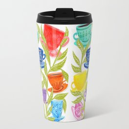 Tea Cups, Patterns, and Leaves Travel Mug